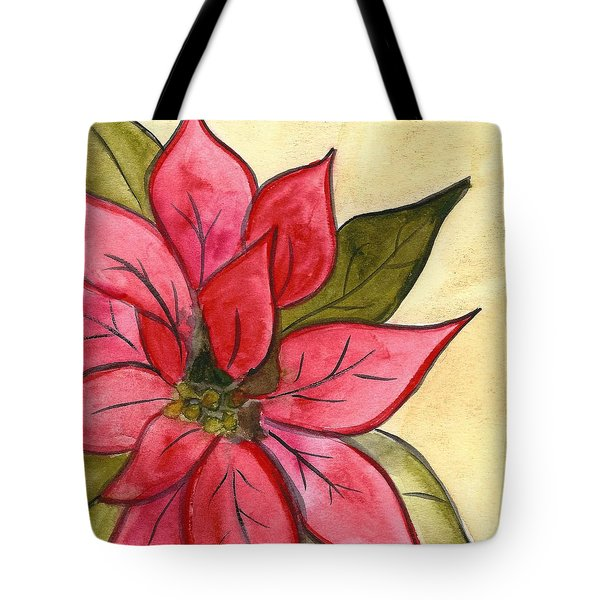 Poinsettia  Tote Bag