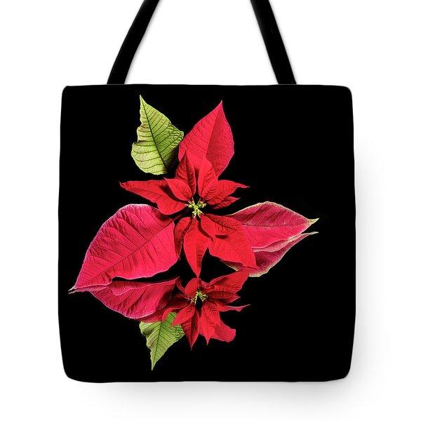 Poinsettia Reflection  Tote Bag