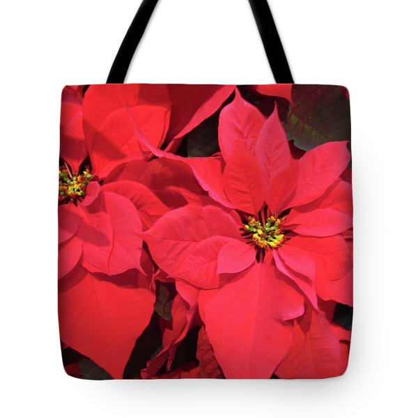 Poinsettias Tote Bag