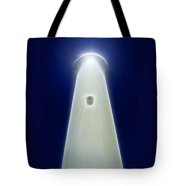 Tote Bag featuring the digital art Point Arena Lighthouse by Holly Ethan