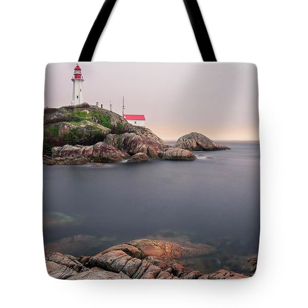 Tote Bag featuring the photograph Point Atkinson Lighthouse by Windy Corduroy
