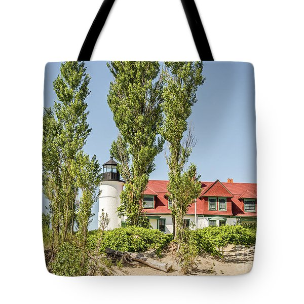 Tote Bag featuring the photograph Point Betsie Lighthouse by Sue Smith