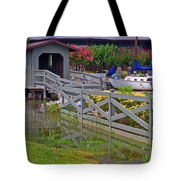 Point Clear Bridge At Grand Hotel Tote Bag