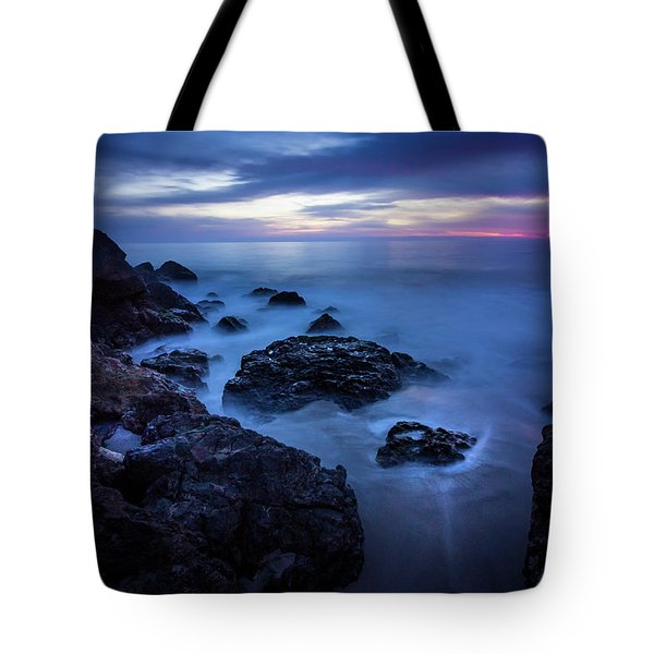 Tote Bag featuring the photograph Point Dume Rock Formations by Andy Konieczny