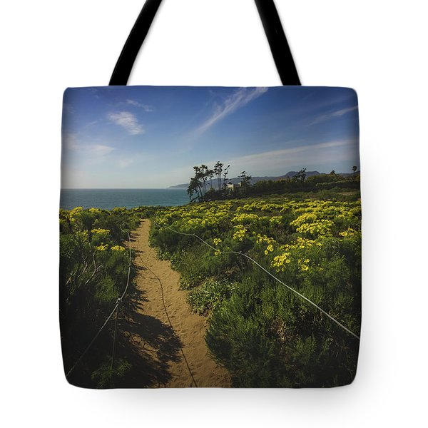 Tote Bag featuring the photograph Point Dume Spring Wildflowers by Andy Konieczny