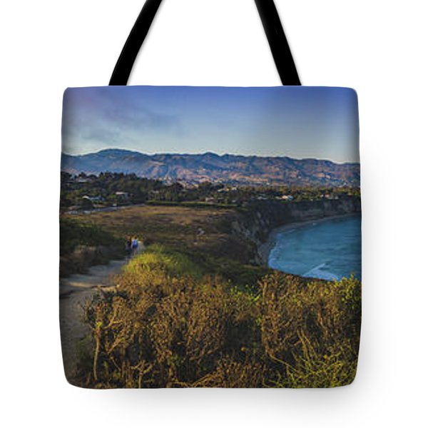 Point Dume Sunset Panorama Tote Bag