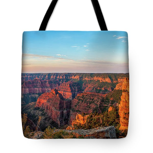 Point Imperial Sunrise Panorama II Tote Bag