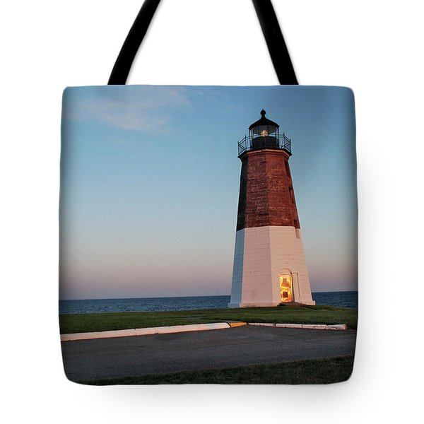 Point Judith Lighthouse Rhode Island Tote Bag