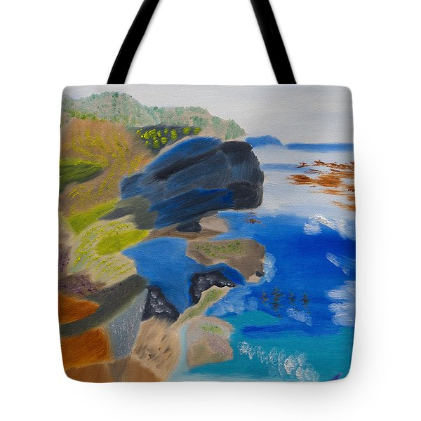 Cliffs Of Point Lobos Ca Tote Bag