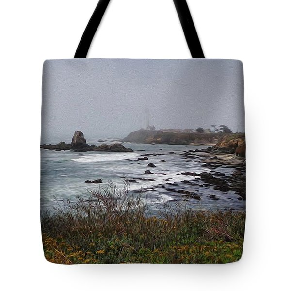 Tote Bag featuring the photograph Point Montara Lighthouse by David Bearden