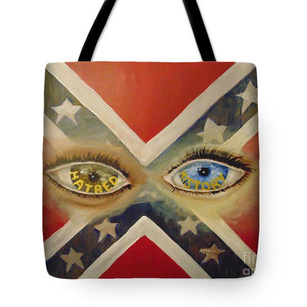 Tote Bag featuring the painting Point Of View by Saundra Johnson
