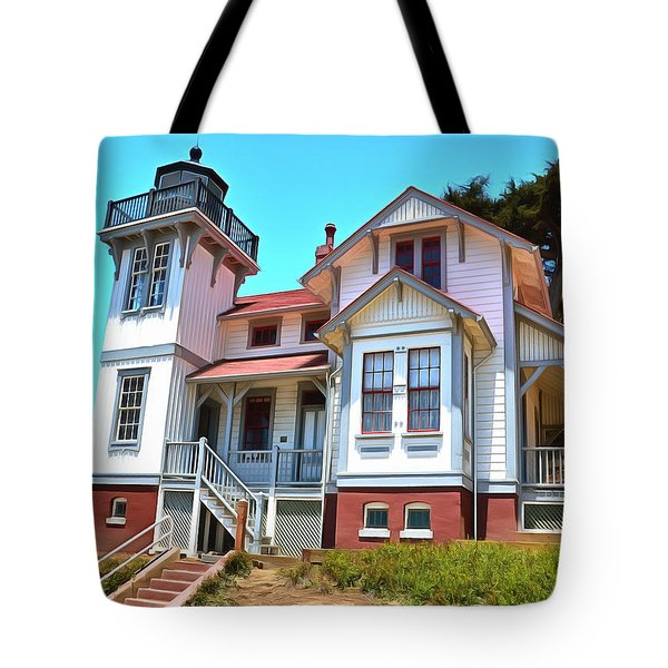 Tote Bag featuring the photograph Point San Luis Lighthouse by Floyd Snyder