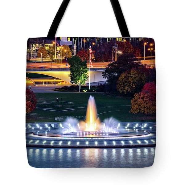 Tote Bag featuring the photograph Point State Park  by Mihai Andritoiu
