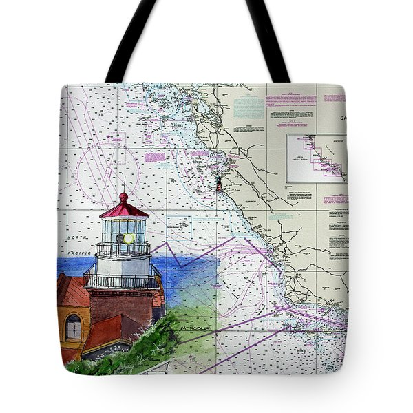 Point Sur Light Station Tote Bag by Mike Robles