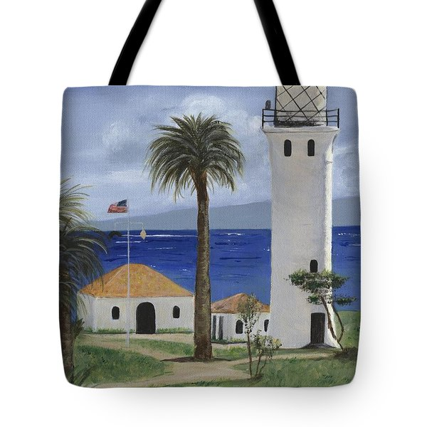 Point Vicente Lighthouse Tote Bag by Jamie Frier