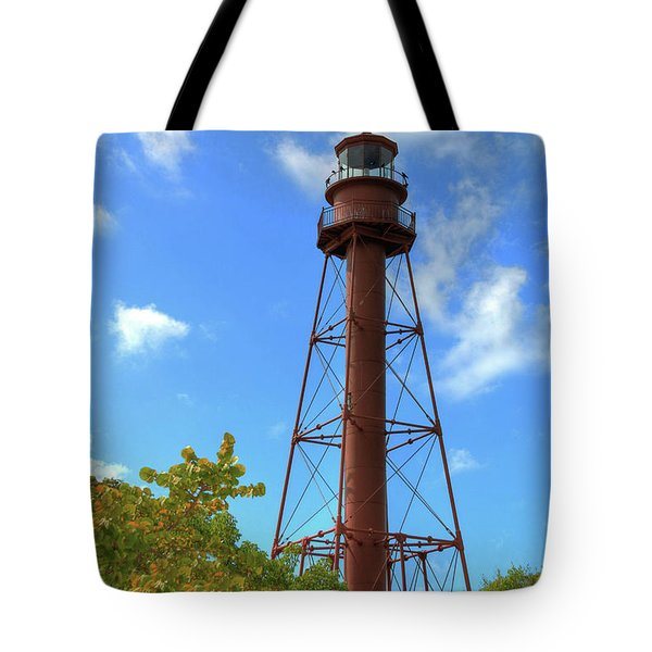 Point Ybel Lighthouse Tote Bag by Sharon Batdorf