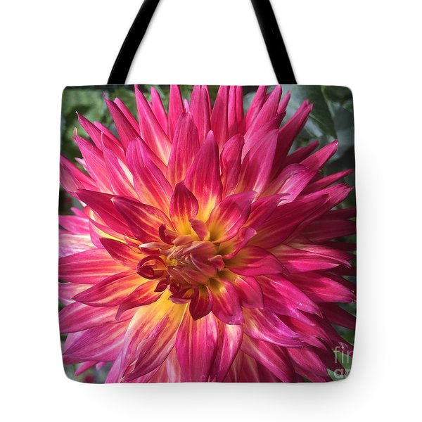 Pointed Dahlia Tote Bag