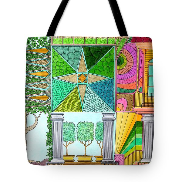 Pointed View Tote Bag