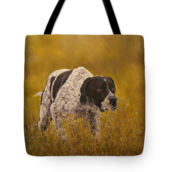 Pointer...to The Point....... Tote Bag by Erna Goudbeek