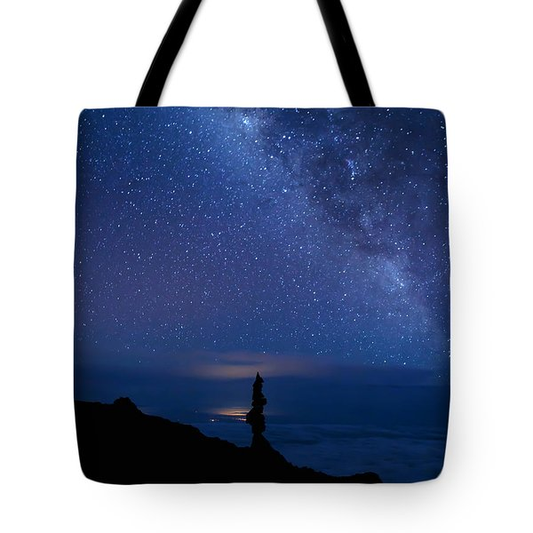 Pointing To The Heavens Tote Bag