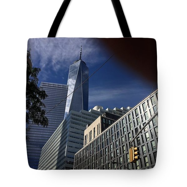 Pointing Towards The Sky Tote Bag