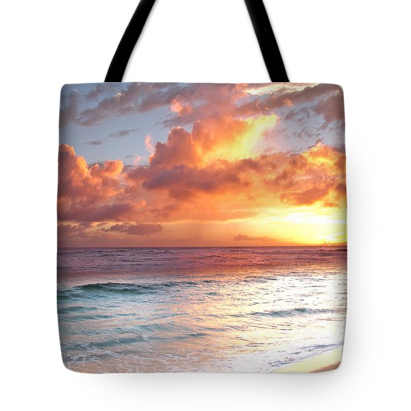Poipu Beach Sunset Tote Bag