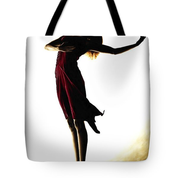 Poise In Silhouette Tote Bag