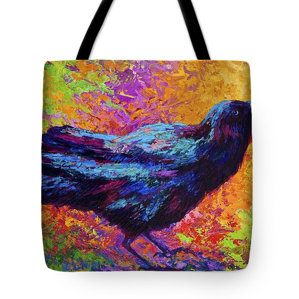 Poised - Crow Tote Bag