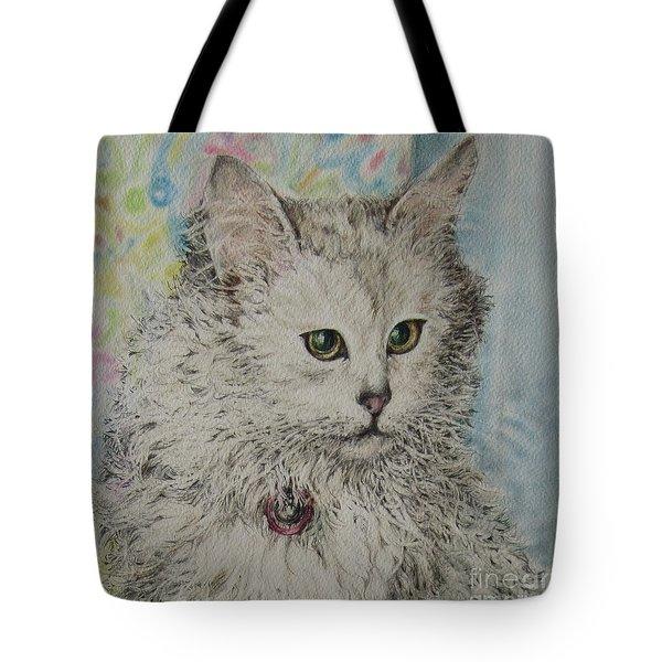 Poised Cat Tote Bag