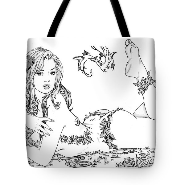 Poison Ivy - Grayscale Tote Bag by Bill Richards