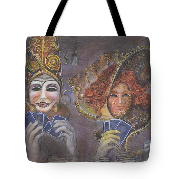 Poker Game Faces Tote Bag by Nik Helbig