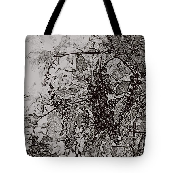 Pokeweed Tote Bag by Linda Shafer