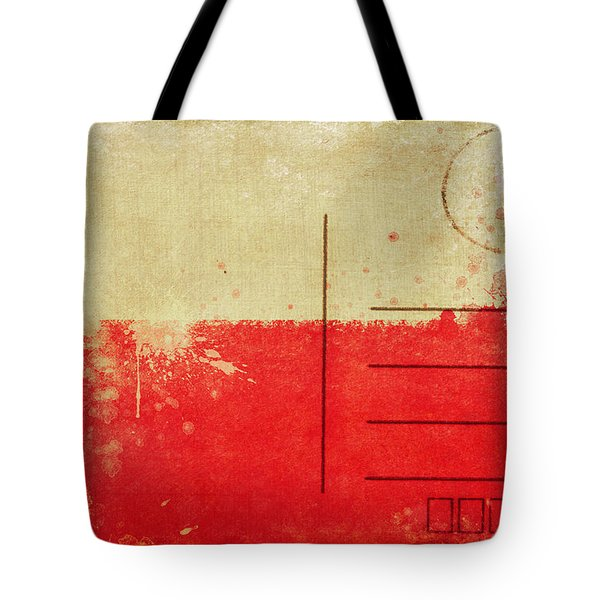 Poland Flag Postcard Tote Bag by Setsiri Silapasuwanchai