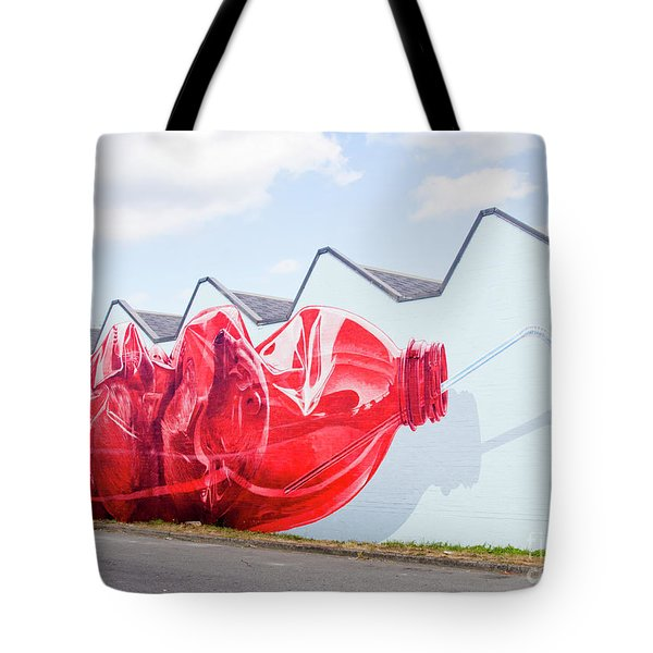 Tote Bag featuring the photograph Polar Bear In A Coke Bottle by Chris Dutton