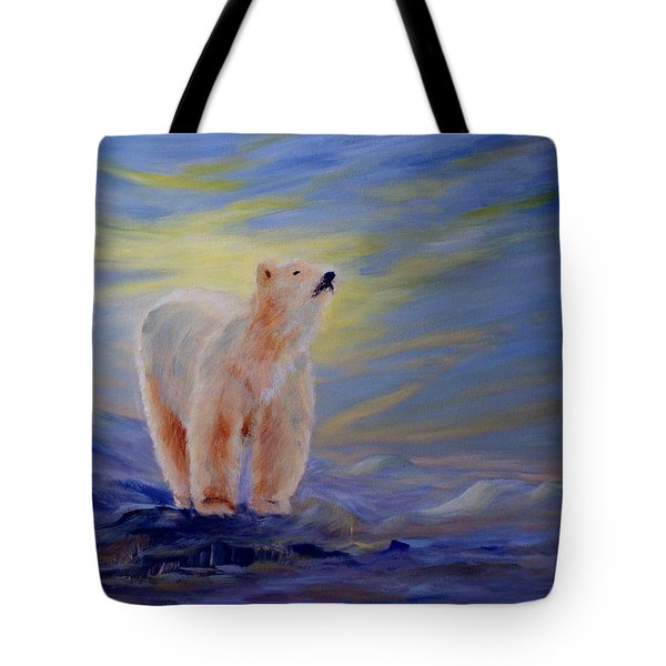 Polar Bear Tote Bag by Joanne Smoley