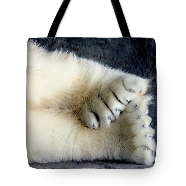 Polar Bear Paws Tote Bag