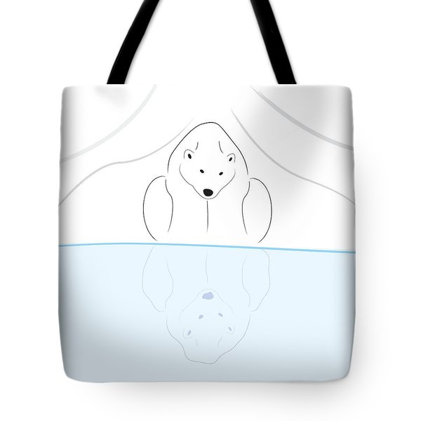 Polar Bear Reflection Tote Bag by Greg Slocum