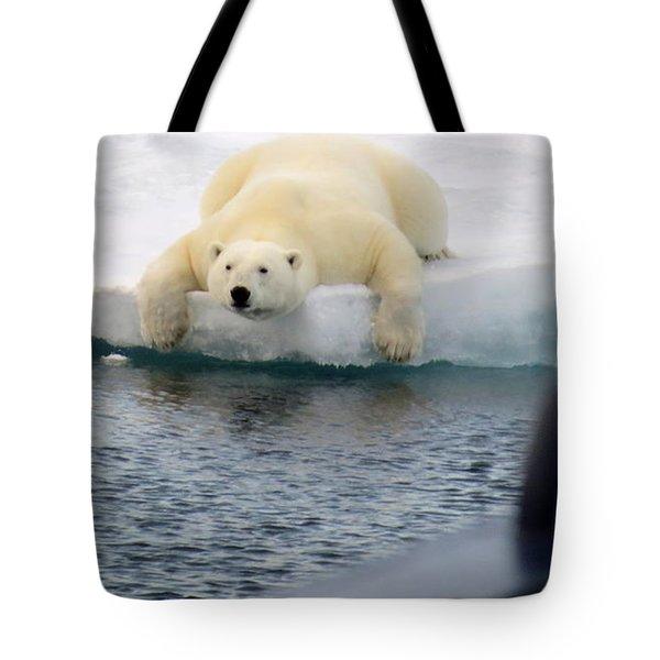 Polar Bear Says 'huh' Tote Bag