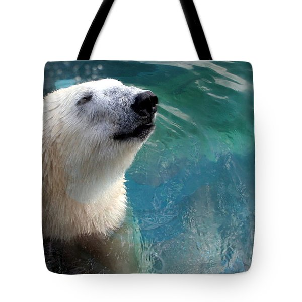 Polar Bear Up Close Tote Bag