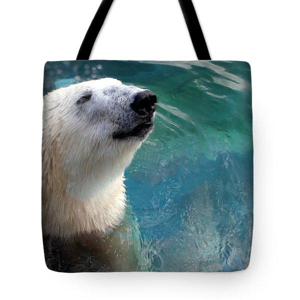Polar Bear Up Close Tote Bag