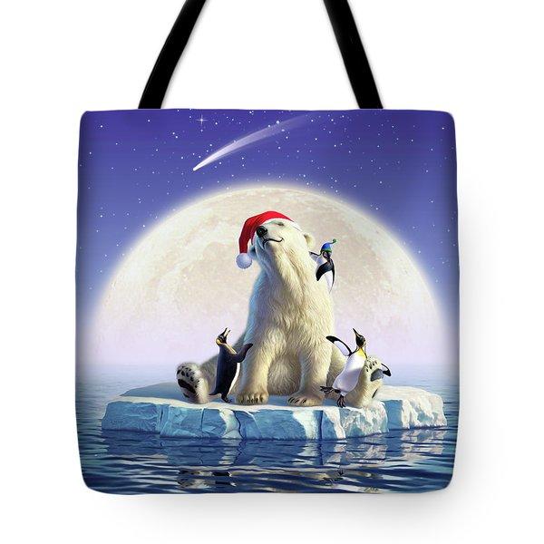Polar Season Greetings Tote Bag