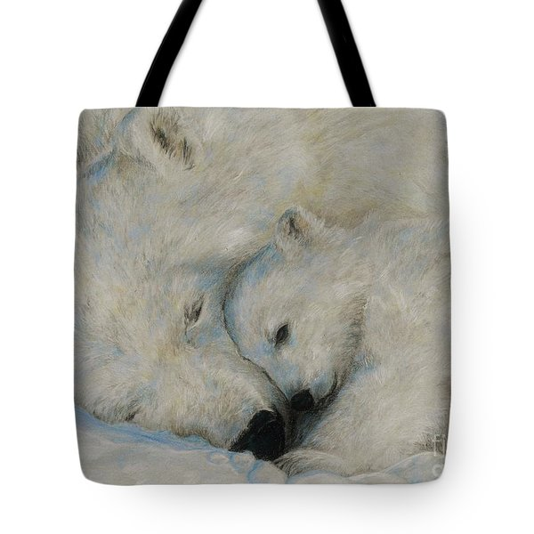 Polar Snuggle Tote Bag by Meagan  Visser