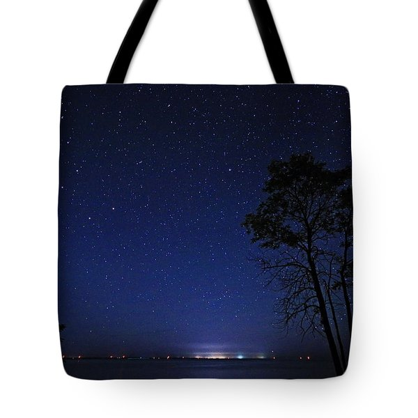 Polaris And Northern Stars Tote Bag by Charline Xia