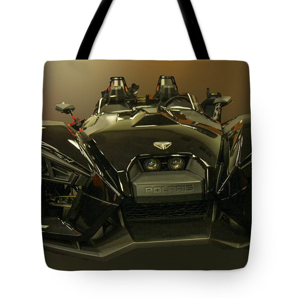 Tote Bag featuring the photograph Polaris Slingshot by Robert Hebert