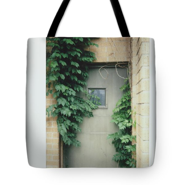 Polaroid Image-ivy In The Doorway Tote Bag