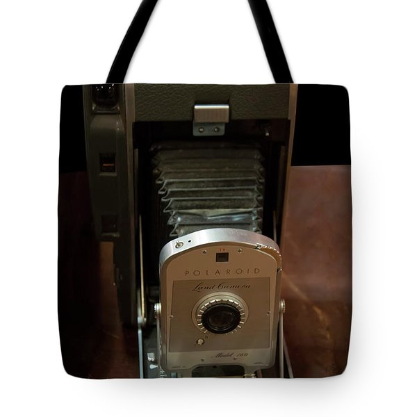 Tote Bag featuring the photograph Polaroid Land Camera Model 160 by Chris Flees