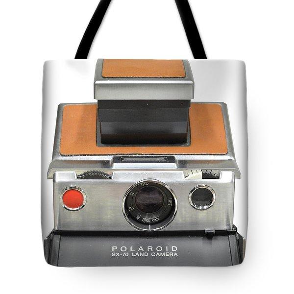 Polaroid Sx70 On White Tote Bag