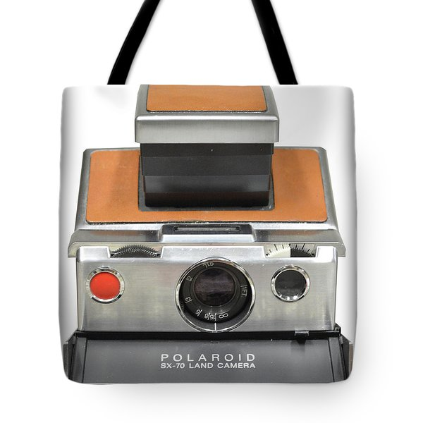 Polaroid Sx70 On White Tote Bag