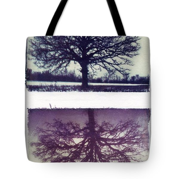 Polaroid Transfer Tree Tote Bag by Jane Linders