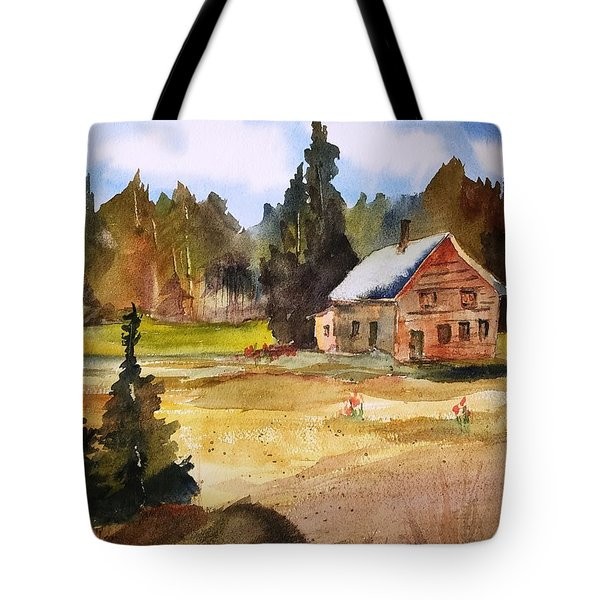 Polebridge Mt Cabin Tote Bag